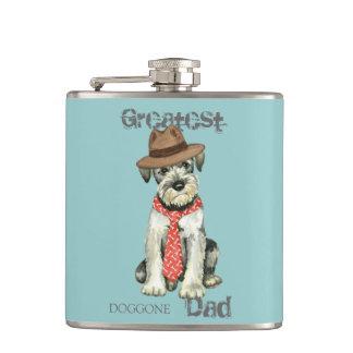 Standard Schnauzer Dad Hip Flask