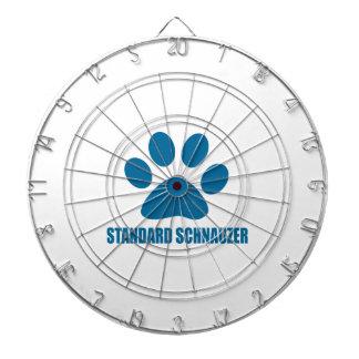 STANDARD SCHNAUZER DOG DESIGNS DARTBOARD