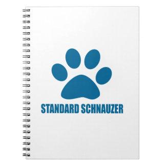STANDARD SCHNAUZER DOG DESIGNS SPIRAL NOTEBOOK
