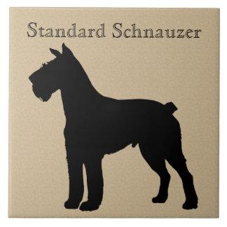 Standard Schnauzer Dog Silhouette Ceramic Tile