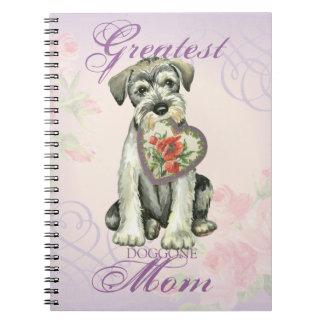 Standard Schnauzer Heart Mom Notebook
