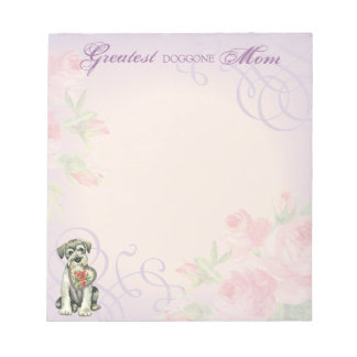 Standard Schnauzer Heart Mom Notepad