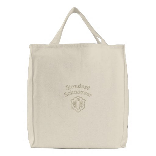 Standard Schnauzer Mom Gifts Embroidered Tote Bags