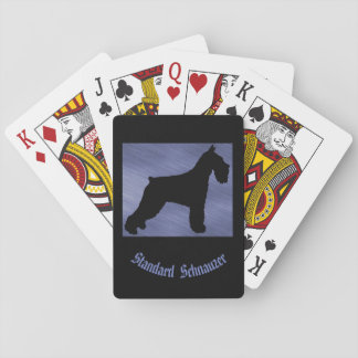 Standard Schnauzer Playing Cards