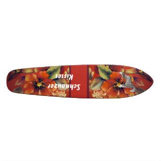 Standard Schnauzer - Schnauzer Kisses 21.3 Cm Mini Skateboard Deck