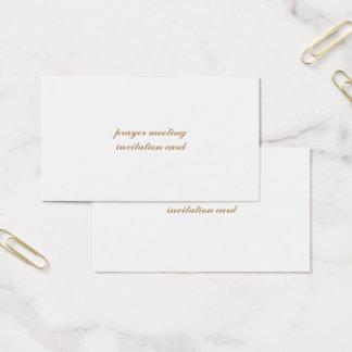 standard signature uv matte prayer meeting invit business card