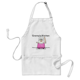 "Standard sz apron with pockets ""Granny's Kitchen"""