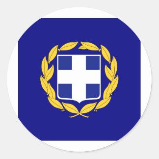 Standard the President Greece, Greece Classic Round Sticker