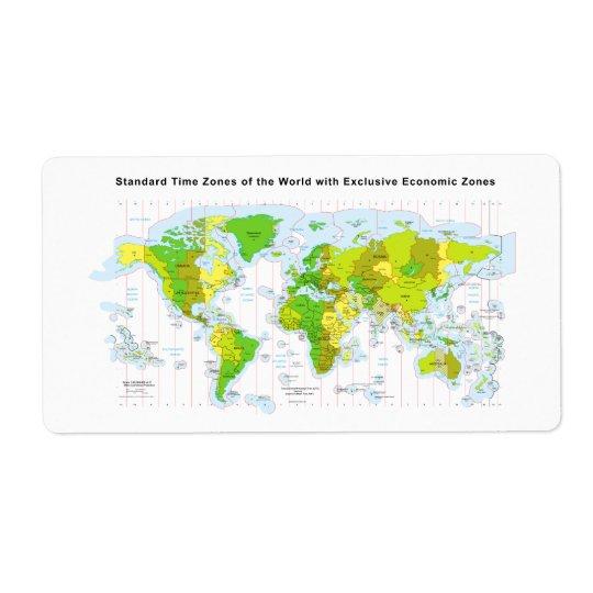 Standard time zones of the world & Economic Zones