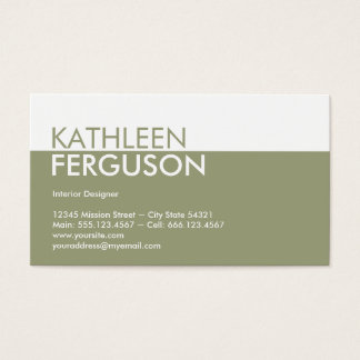 Standard two tone colour block green professional business card
