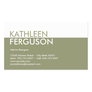 Standard two tone colour block green professional pack of standard business cards