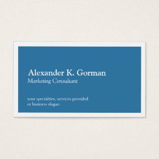 Standard white border solid colbalt blue classic