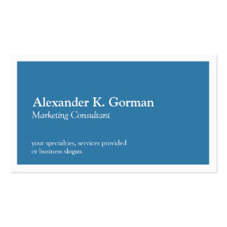 Standard white border solid colbalt blue classic pack of standard business cards