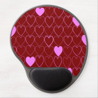 standard with hearts gel mouse pad