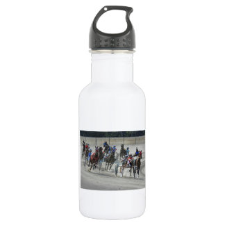 Standardbred Harness Race Last Turn 532 Ml Water Bottle