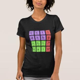 Standart model of elementary particles T-Shirt