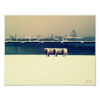 Standing alone in snow poster