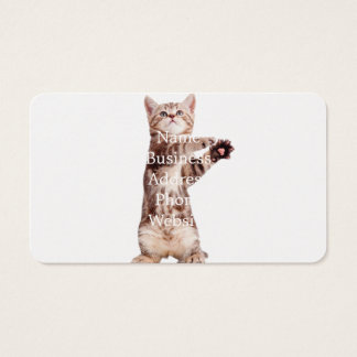 Standing cat - kitty - pet - feline - pet cat business card