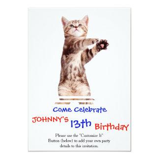 Standing cat - kitty - pet - feline - pet cat card