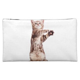 Standing cat - kitty - pet - feline - pet cat makeup bag