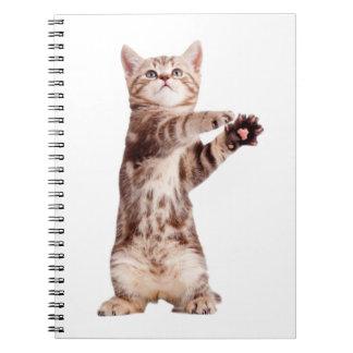 Standing cat - kitty - pet - feline - pet cat notebook