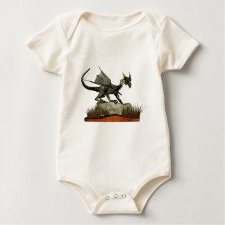 Standing Dragon on a Rock Baby Bodysuit