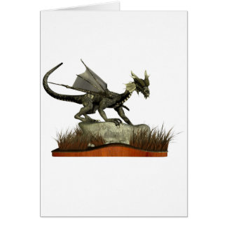Standing Dragon on a Rock Greeting Card