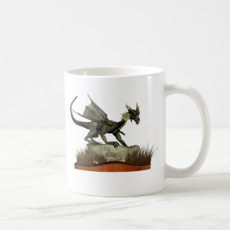 Standing Dragon on a Rock Mugs