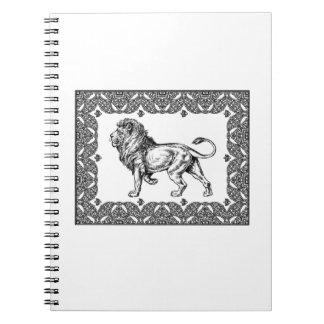 Standing Framed lion Notebooks