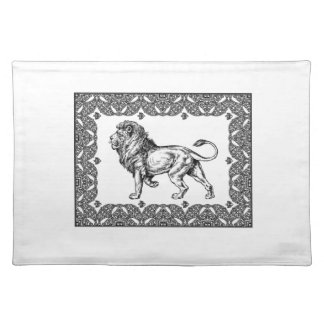 Standing Framed lion Placemat