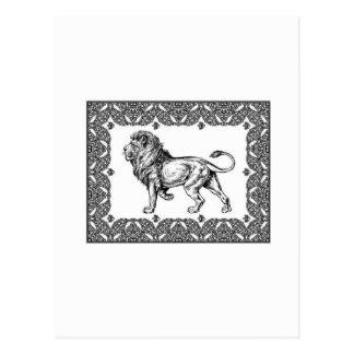 Standing Framed lion Postcard