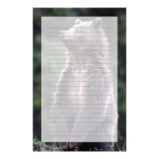 Standing Grizzly Bear Personalized Stationery
