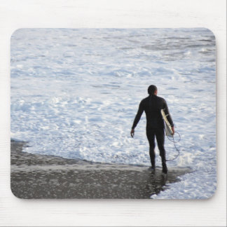 Standing in the surf mouse pads