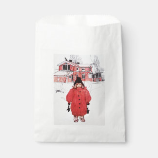 Standing in the Winter Snow Favour Bag