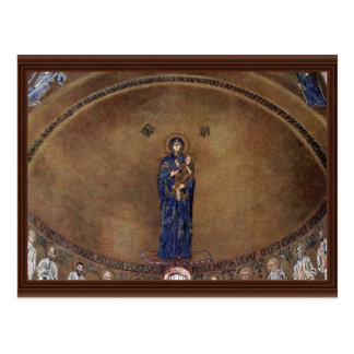 Standing Madonna Over Apostle Images Postcard