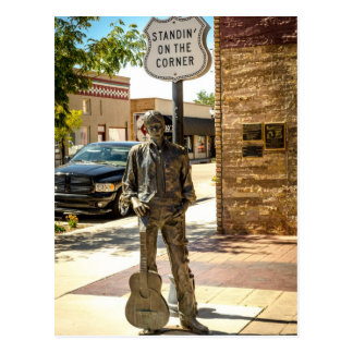 Standing On The Corner in Winslow, AZ. Postcard