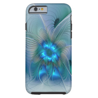 Standing Ovations, Abstract Blue Turquoise Fractal Tough iPhone 6 Case