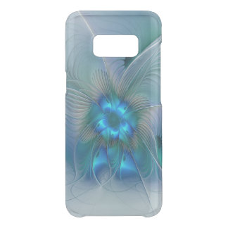 Standing Ovations, Abstract Blue Turquoise Fractal Uncommon Samsung Galaxy S8 Case