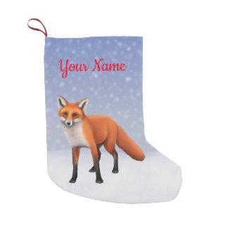 Standing Red Fox Christmas Stocking