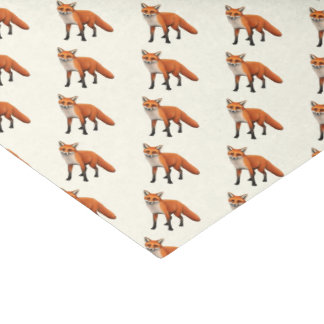 Standing Red Fox Wildlife Tissue Paper
