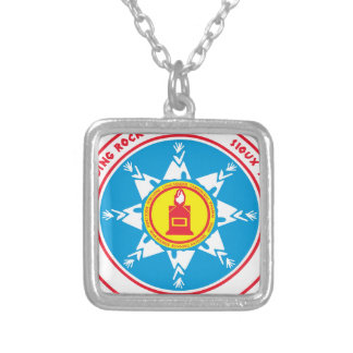 Standing Rock tribe logo Silver Plated Necklace