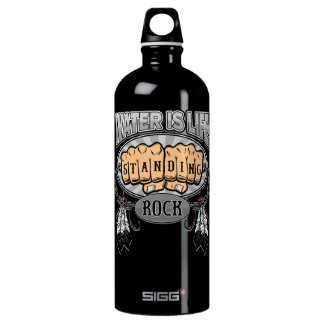 Standing Rock Water is Life Fists Water Bottle
