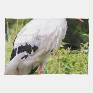 Standing stork towel