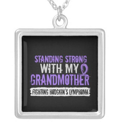 Standing Strong Grandmother Hodgkins Lymphoma Necklace