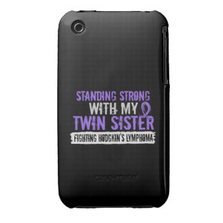 Standing Strong Twin Sister Hodgkins Lymphoma iPhone 3 Case
