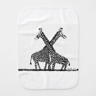 Standing tall together burp cloth