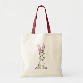 Standing White Rabbit Tote Bag