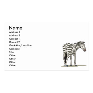 standing zebra graphic pack of standard business cards