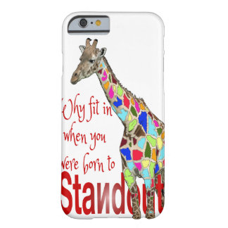 Standout cute giraffe iPhone 6 case Barely There iPhone 6 Case