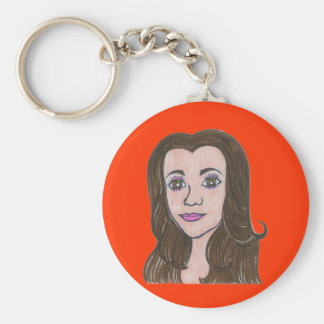Stands by her man/Nikki soars Basic Round Button Key Ring